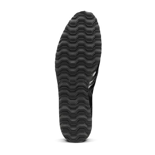 Scarpe platform stringate bata, nero, 521-6656 - 17