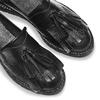 Mocassini di pelle con nappine bata, nero, 514-6416 - 19