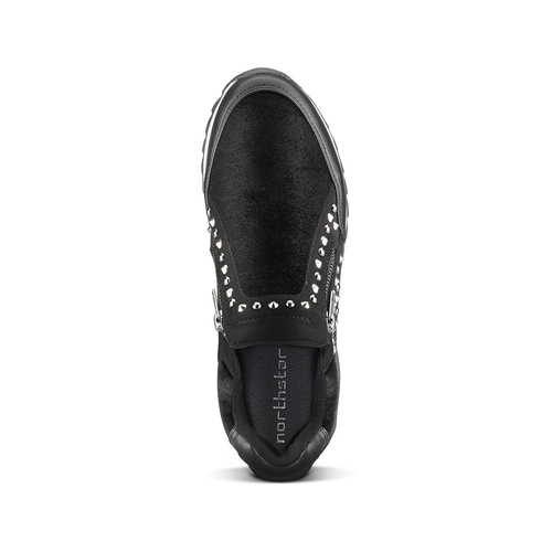 Sneakers nere con strass north-star, nero, 549-6294 - 15