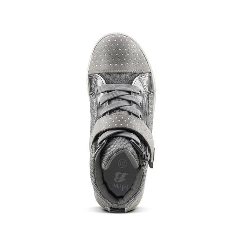 Sneakers alte con zip mini-b, grigio, 329-2303 - 15
