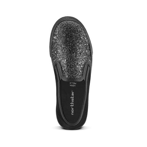 Sneakers glitter, nero, 329-6312 - 15