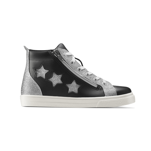 Sneakers alte con stelle north-star, nero, 324-6278 - 26