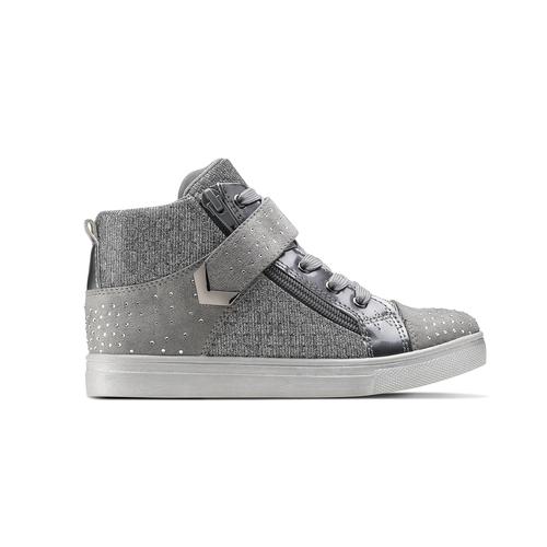 Sneakers alte con zip mini-b, grigio, 329-2303 - 26