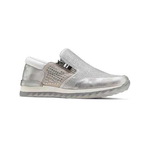Sneakers glitter, argento, 329-1298 - 13