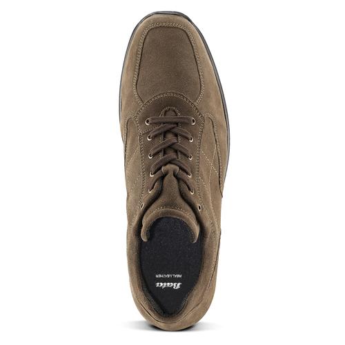 Scarpe in pelle scamosciata bata, marrone, 843-3315 - 15