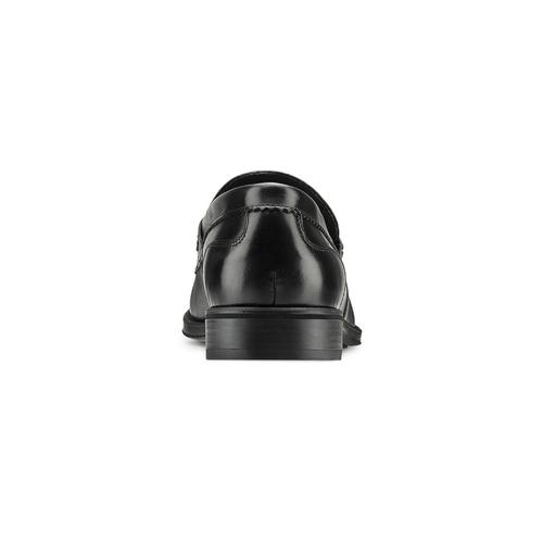Mocassini in vera pelle bata, nero, 814-6175 - 15