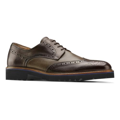 Stringate Derby in pelle bata-the-shoemaker, marrone, 824-4186 - 13