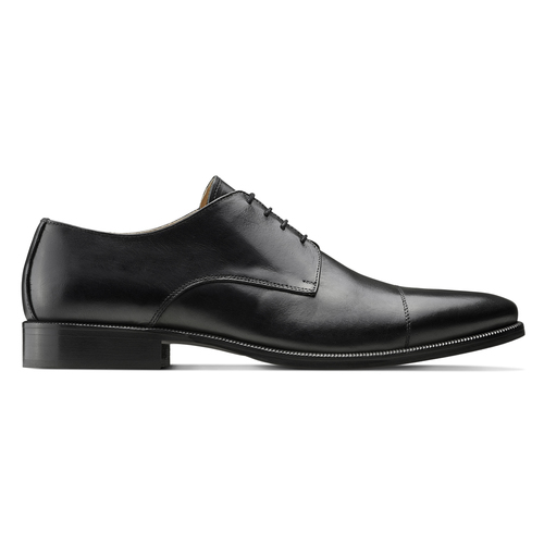 Stringate Derby in vera pelle nera bata-the-shoemaker, nero, 824-6184 - 26