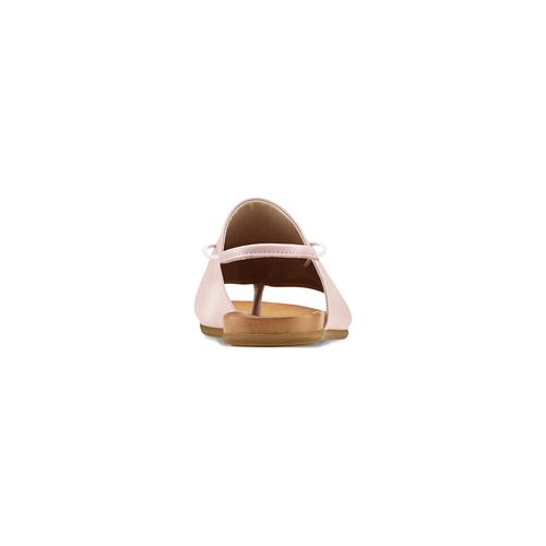 Sandali in pelle rosa bata, rosa, 564-5117 - 16