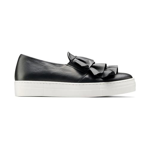 Sneakers in pelle con volant north-star, nero, 514-6135 - 26