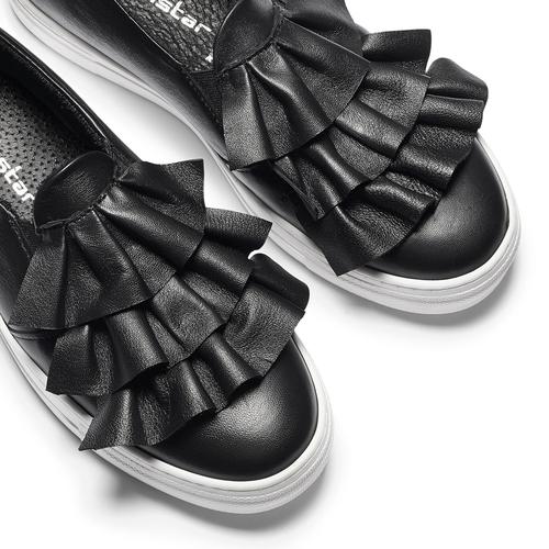 Sneakers in pelle con volant north-star, nero, 514-6135 - 19
