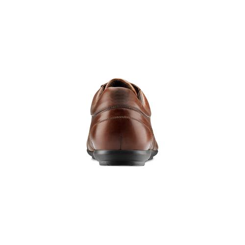 Stringate in vera pelle bata, marrone, 844-4381 - 15