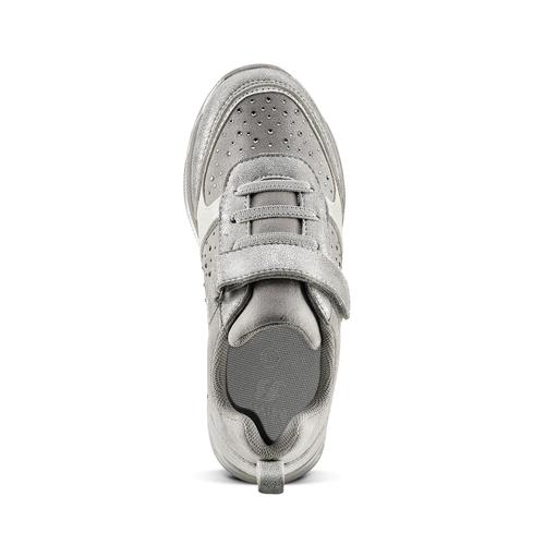 Sneakers con glitter da bambina mini-b, turchese, argento, 329-2295 - 15