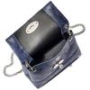 Borsetta in pelle a tracolla bata, blu, 964-9939 - 16