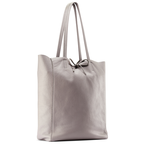 Shopper in Vera Pelle bata, beige, 964-2122 - 13