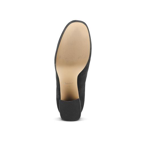 Ankle boots tacco largo bata, nero, 799-6664 - 17
