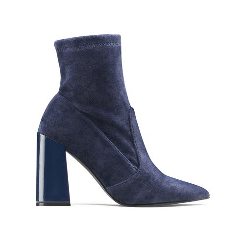 Tronchetti in velluto bata, blu, 799-9648 - 26
