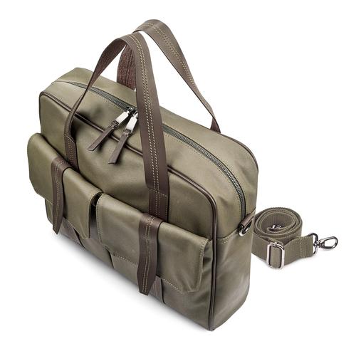 Porta Notebook da uomo bata, khaki, 969-7131 - 17