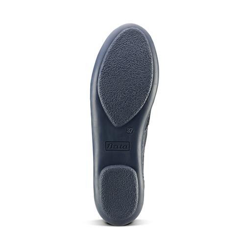 Stringate in pelle bicolore bata, blu, 524-9658 - 17