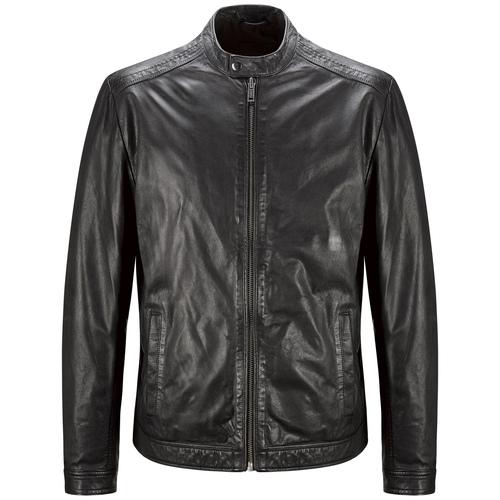 Giacca maschile in pelle bata, nero, 974-6171 - 13