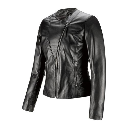 Giacca in pelle nera bata, nero, 974-6177 - 16
