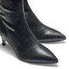 Stivaletti calzino con tacco bata, nero, 699-6171 - 15