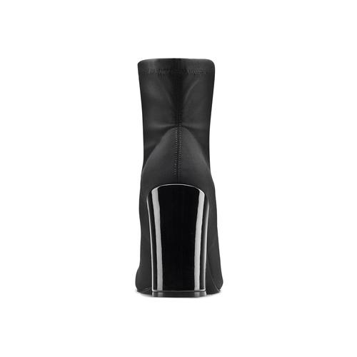 Stivaletti calzino con tacco bata, nero, 799-6647 - 16
