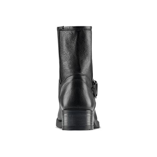 Ankle Boots in pelle con fibbia bata, nero, 694-6420 - 16