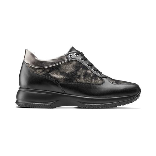 Scarpe con intarsi laminati bata, nero, 524-6663 - 26