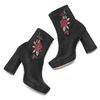 Ankle boots dettaglio rose bata, nero, 799-6157 - 19