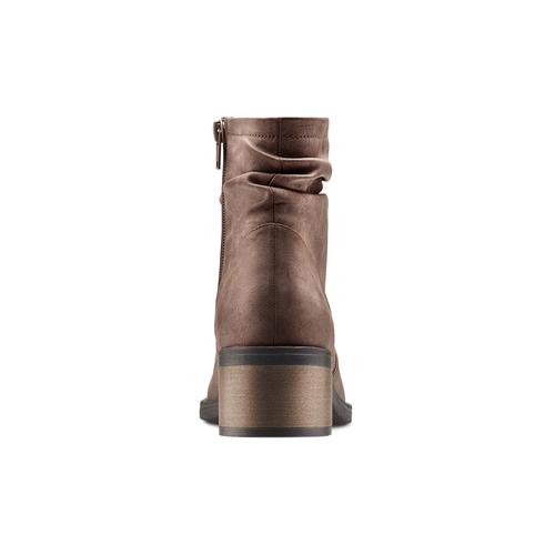 Stivaletti con dettaglio arricciato bata, marrone, 691-4408 - 15