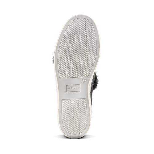 Sneakers in pelle e pelliccia north-star, nero, 544-6114 - 17