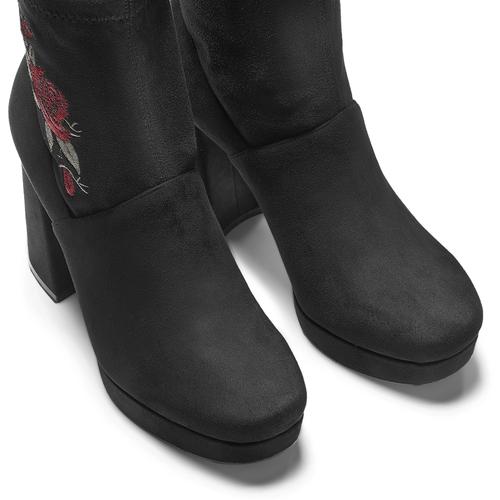 Ankle boots dettaglio rose bata, nero, 799-6157 - 15