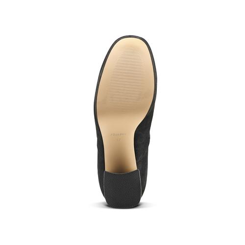Ankle boots dettaglio rose bata, nero, 799-6157 - 17