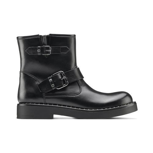 Ankle boots Courtney bata, nero, 591-6143 - 26