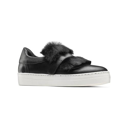 Sneakers in pelle e pelliccia north-star, nero, 544-6114 - 13