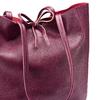 Shopper in Vera Pelle bata, rosso, 964-5522 - 15