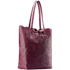 Shopper in Vera Pelle bata, rosso, 964-5522 - 13