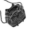 Borsa a secchiello con borchie bata, nero, 961-6204 - 16