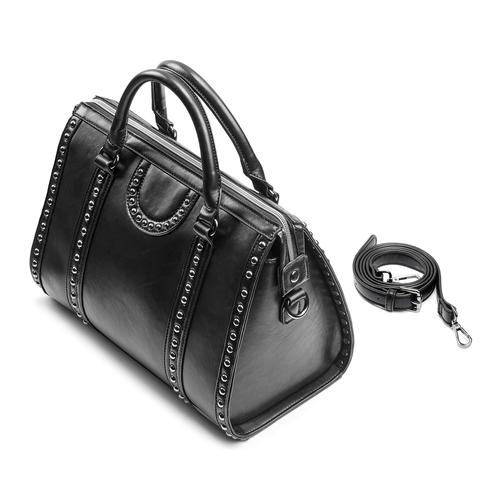 Bauletto nero da donna bata, nero, 961-6106 - 17