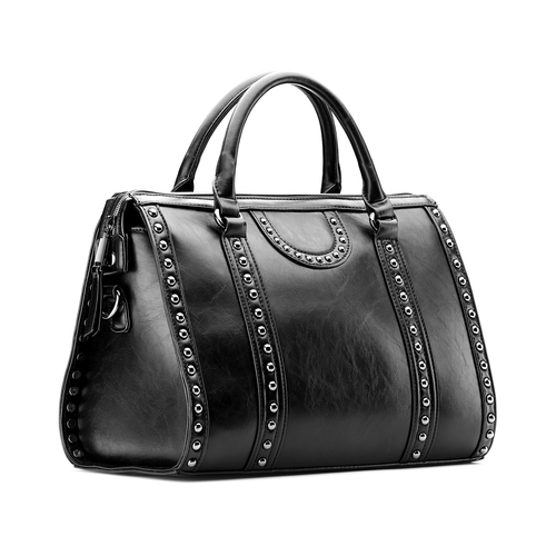 Bauletto nero da donna bata, nero, 961-6106 - 13