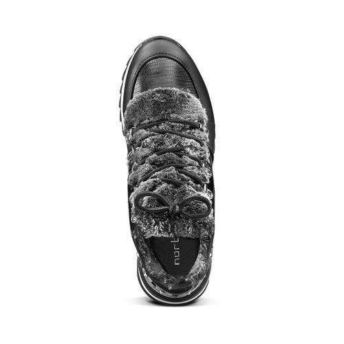Sneakers da donna dettaglio pelliccia north-star, nero, 549-6318 - 15