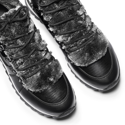 Sneakers da donna dettaglio pelliccia north-star, nero, 549-6318 - 19