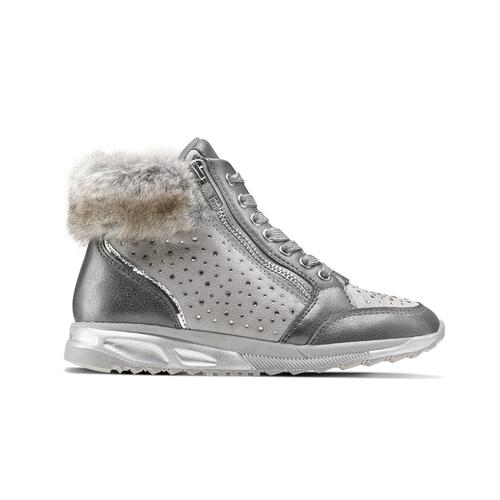 Sneakers con pelliccia da bimba mini-b, grigio, 329-2287 - 26