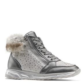 Sneakers con pelliccia da bimba mini-b, grigio, 329-2287 - 13