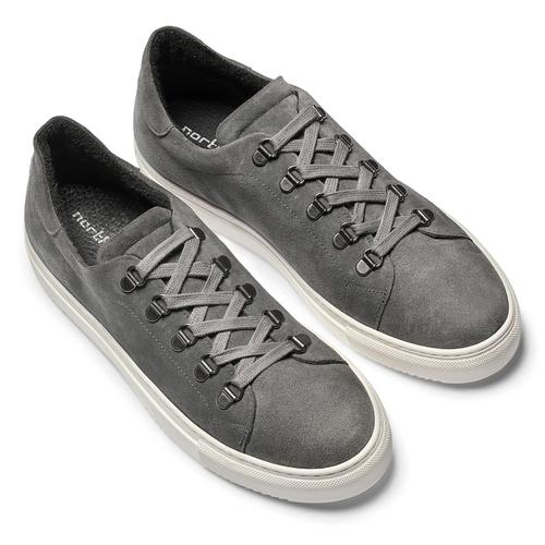 Sneakers in suede da uomo north-star, grigio, 843-2736 - 19