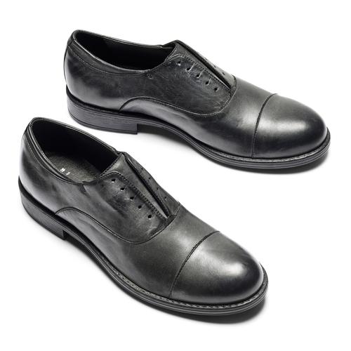 Scarpe da uomo senza lacci bata, nero, 824-6240 - 26