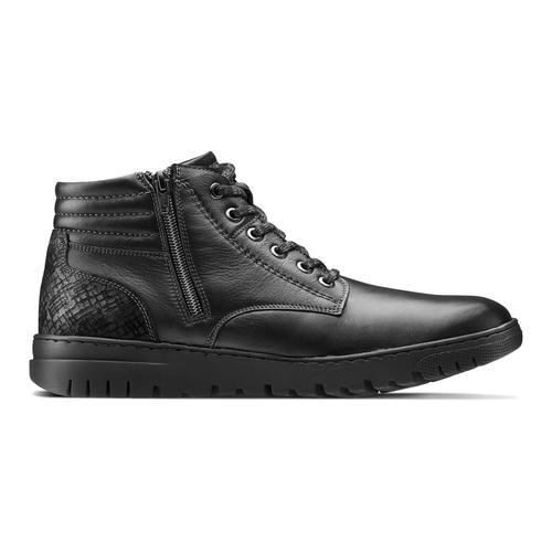 Sneakers alte da uomo bata, nero, 894-6719 - 26