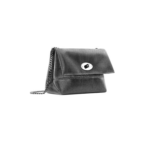 Minibag argento con tracolla bata, grigio, 969-2194 - 13