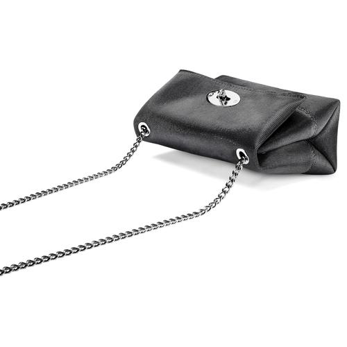 Tracolla con catena e fibbia metallica bata, nero, 969-6194 - 17